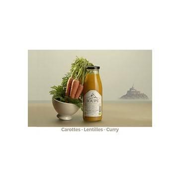 Fruits et légumes-Soupe carotte - lentille corail et curry - 1 litre-FERME DU POLDER