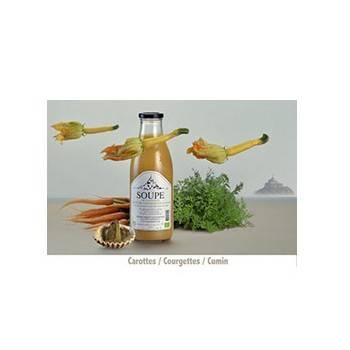 Fruits et légumes-Soupe carotte - courgette et cumin bio - 1 litre-FERME DU POLDER