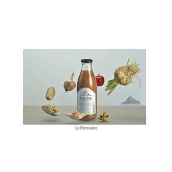 Fruits et légumes-Soupe la Marocaine bio - demi litre-FERME DU POLDER