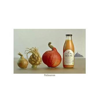 Fruits et légumes-Soupe potimarron bio - demi litre-FERME DU POLDER