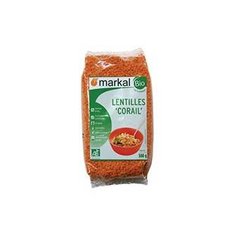Produits Bio-Lentilles corail- 500 g-BIODIS
