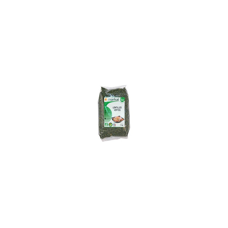 Produits Bio-Lentilles vertes- 500 g-BIODIS