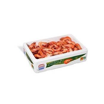 Poissonnerie-Gambas Bio (cuits) - Barquette 2kg-La criée Rennaise