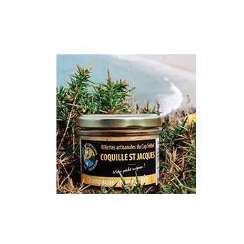 Conserve de poisson-rillettes artisanales coquille Saint Jacques - 95 g-POISSONS DE MARION