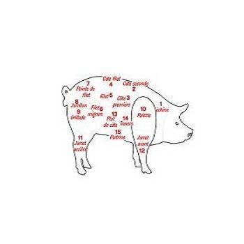 Viandes et Charcuterie-Escalope filet porc- par 6 soit 960 g env (conv)-CHARCUTERIES DE MONTIFAULT