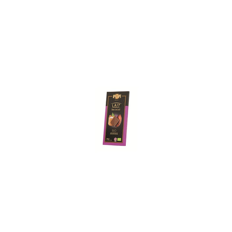 Produits Bio-Tablette chocolat lait bio- 100 g-BIODIS