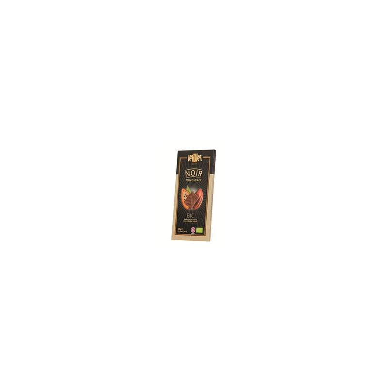 Produits Bio-Tablette chocolat noir bio- 100 g-BIODIS