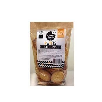 Boulangerie-petits citrons bio sans gluten et sans produits laitiers - 160 grs-CARRE RONDS