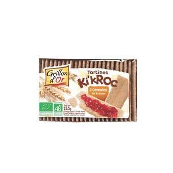 Produits Bio-Tartines Ki'Kroc 3 céréales Sans Glüten -270 g-GRILLON D'OR