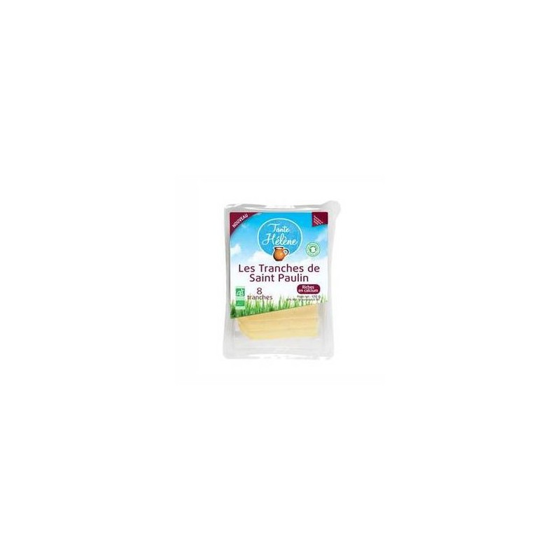 Fromage lait pasteurisé-Saint Paulin en tranches 170g BIO-BIODIS FRAIS
