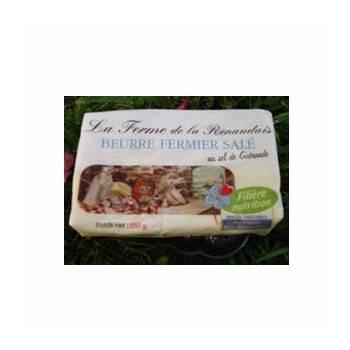 Le frais-beurre fermier demi-sel - 250g-FERME DE LA RENAUDAIS