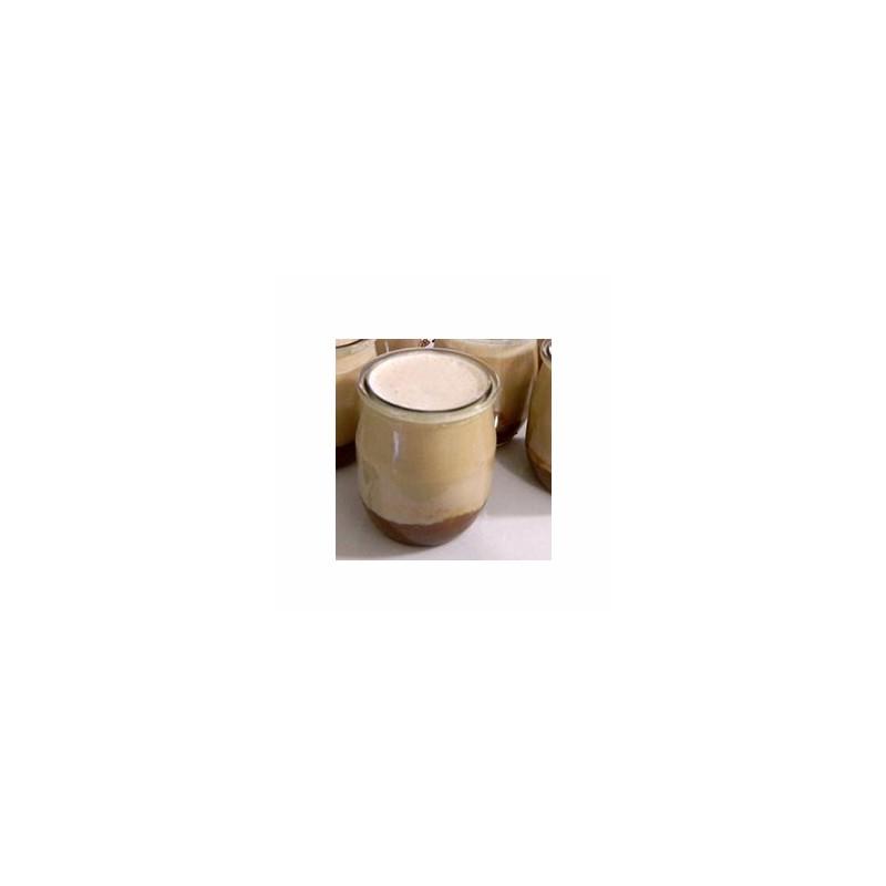 Le frais-Le yaourt brassé pêche non sucré- unité-FERME MOUSSON