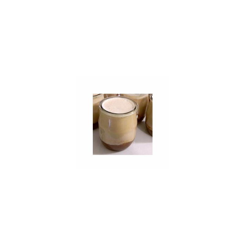 Le frais-Le yaourt brassé rhubarbe non sucré- unité-FERME MOUSSON