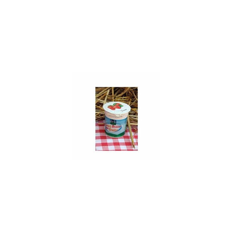 Les yaourts (vache)-Yaourt brassé aux fruits- Lot de 4-FERME DE LA SABLONNIERE