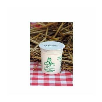 Les yaourts (vache)-Yaourt nature- Lot de 4-FERME DE LA SABLONNIERE