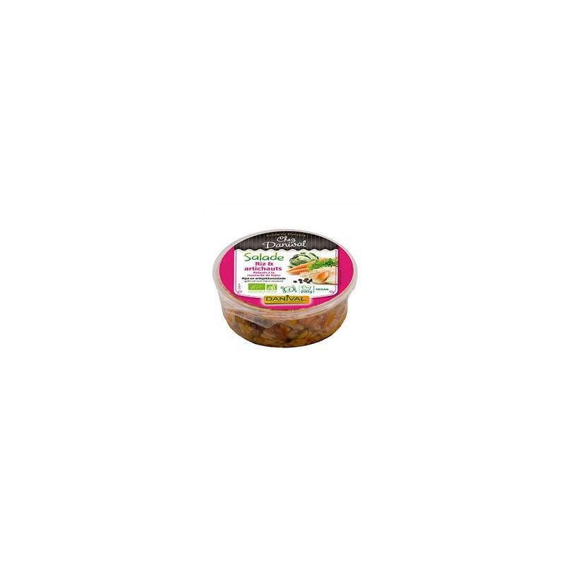 Plats cuisinés-Salade riz et artichauts bio - 180 grs-BIODIS