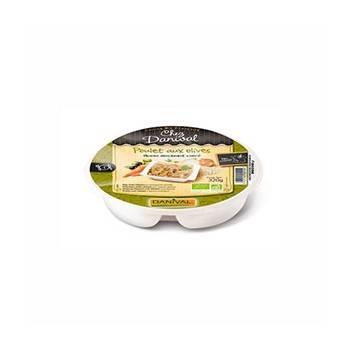 Plats cuisinés-Poulet aux olives et quinoa- Assiette bio 320g-BIODIS
