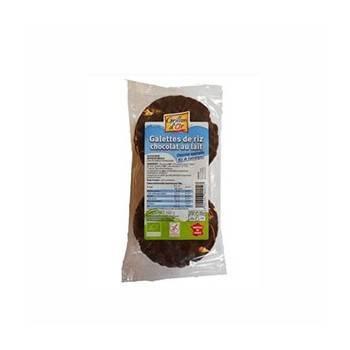Produits Bio-galette de riz nappé de chocolat Lait bio -100g-GRILLON D'OR