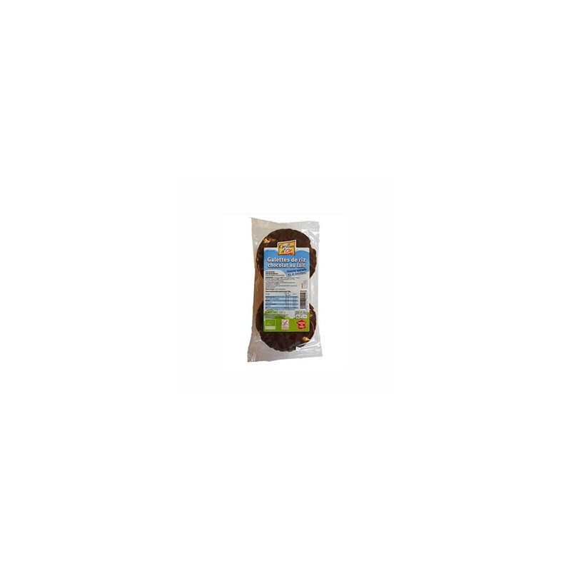 Produits Bio-galette riz nappée chocolat Lait bio -100g-GRILLON D'OR