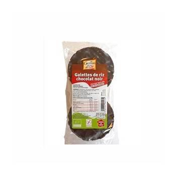 Produits Bio-galette riz nappée chocolat Noir bio-100g-GRILLON D'OR
