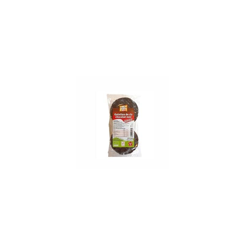 Produits Bio-galette de riz nappé de chocolat Noir bio-100g-GRILLON D'OR
