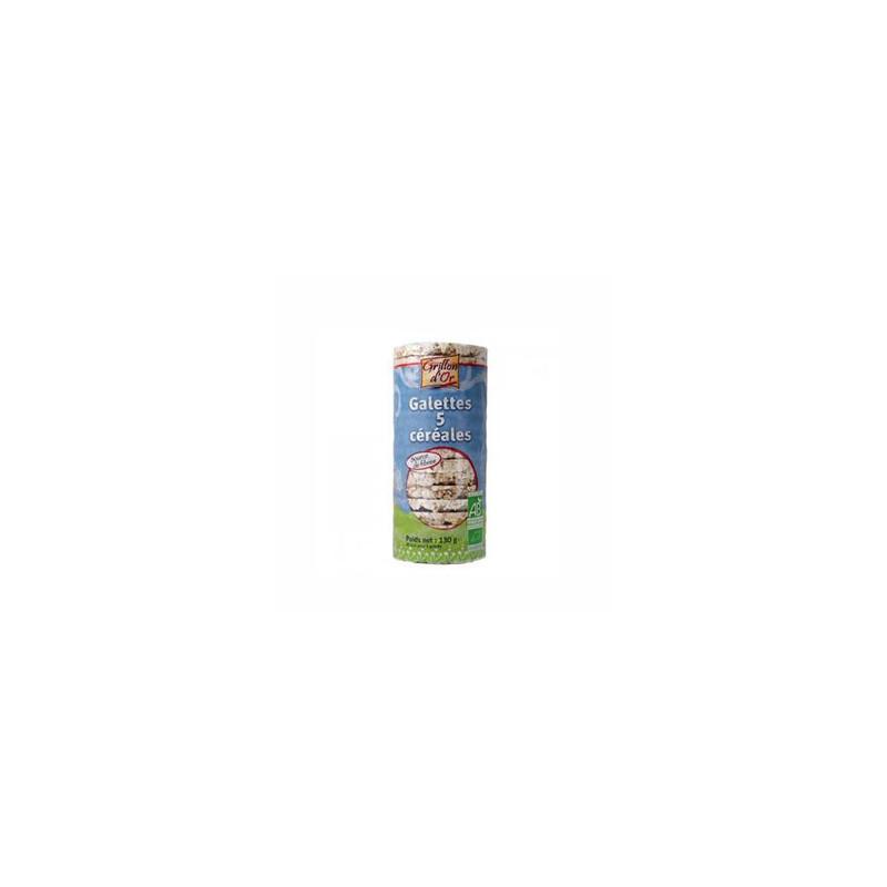 Produits Bio-galette de riz soufflé aux 5 céréales-130g-GRILLON D'OR