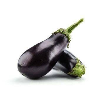 Légumes biologiques-L'Aubergine bio (Espagne)- La pièce (env.400grs)-BIO RENNES