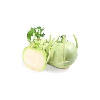 Choux, épinard, radis, champignons-Chou Rave vert - bio piece-BIO RENNES
