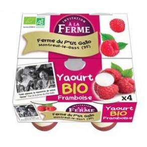 Le frais-Les yaourts Framboise bio -Par 4-LE P TIT GALLO