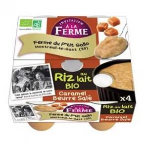 Le frais-Riz au lait caramel beurre salé par 4- bio-LE P TIT GALLO