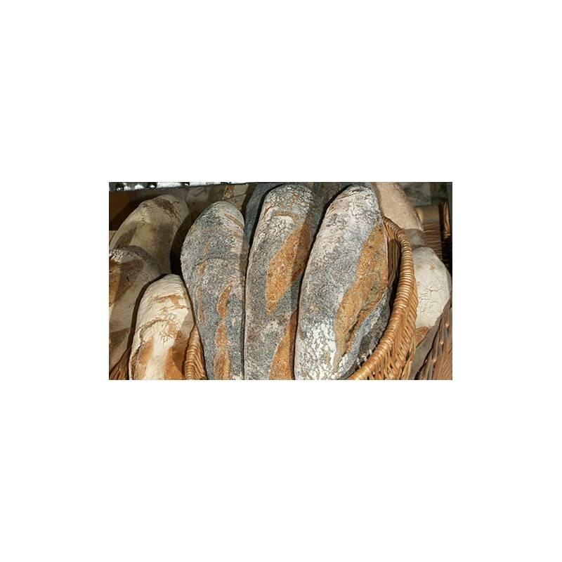 Pain demi/ semi-complet bio-Fagotin pavot Bio 500 grs tranché-Fagots et Froment