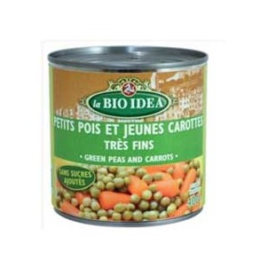 Produits Bio-Petits pois carottes - 400 g-BIODIS