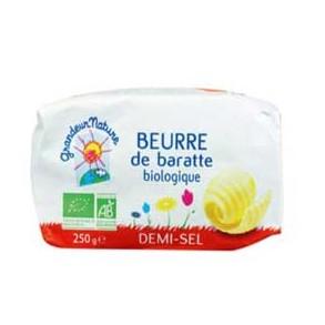 Le lait et le beurre-Beurre de baratte bio demi-sel- 250 grs-BIODIS FRAIS