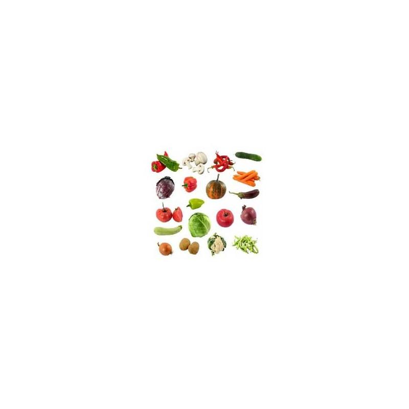 Paniers de légumes-Panier ROUGE - légumes et fruits-PANIERS LEGUMES - MIXTE