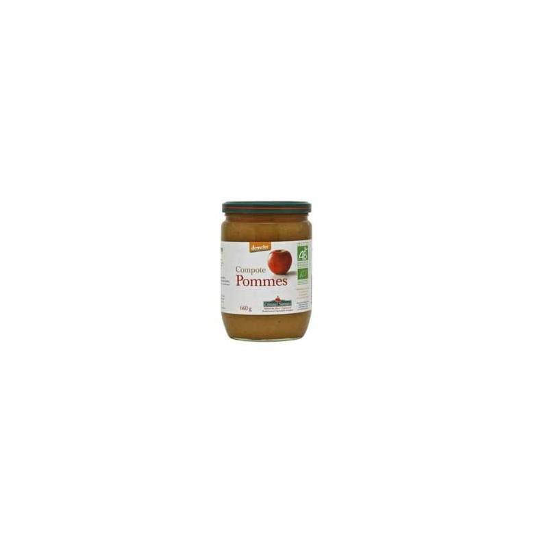 Confitures, crêpes et galettes bio-compote pommes bio - 660 g-COTEAUX NANTAIS