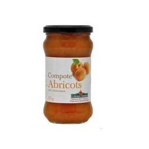 Confitures, crêpes et galettes bio-compote Abricots bio- 315 g-COTEAUX NANTAIS