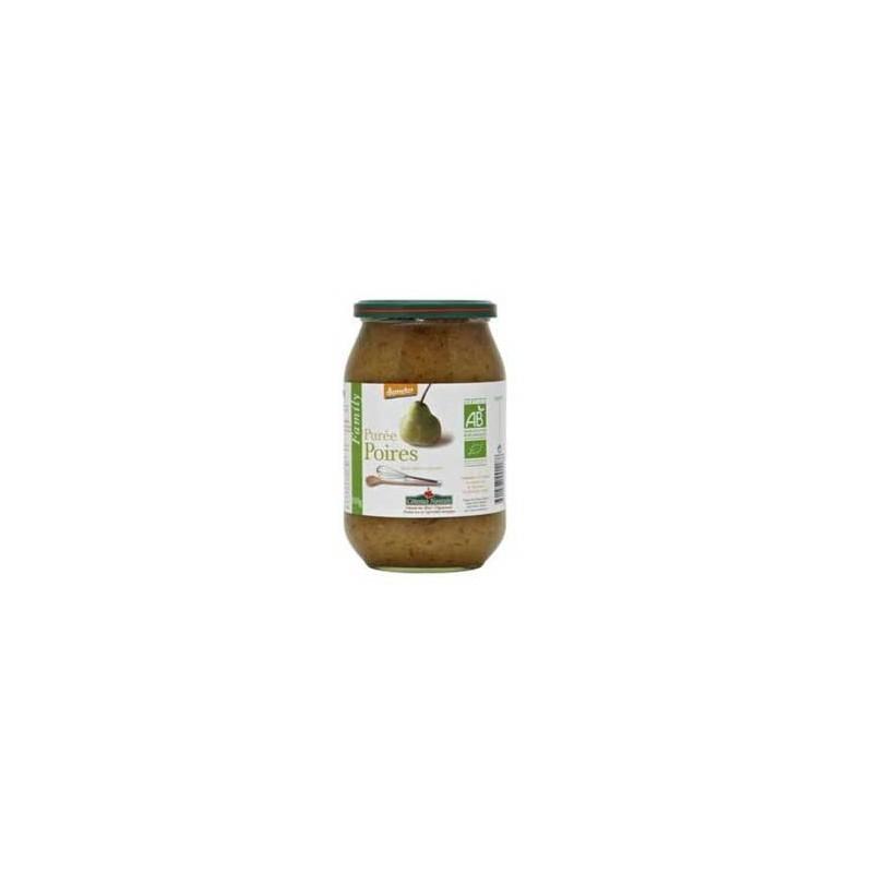 Confitures, crêpes et galettes bio-Purée poire bio - 910 g-COTEAUX NANTAIS