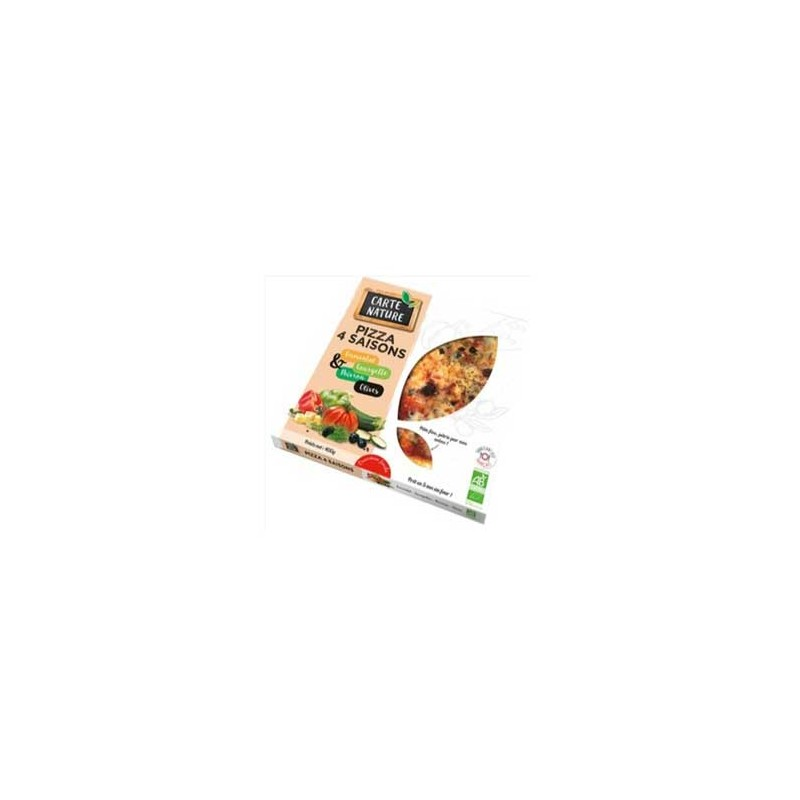 Pizza et pâtes bio-Pizza bio 4 saisons 400 grs-BIODIS