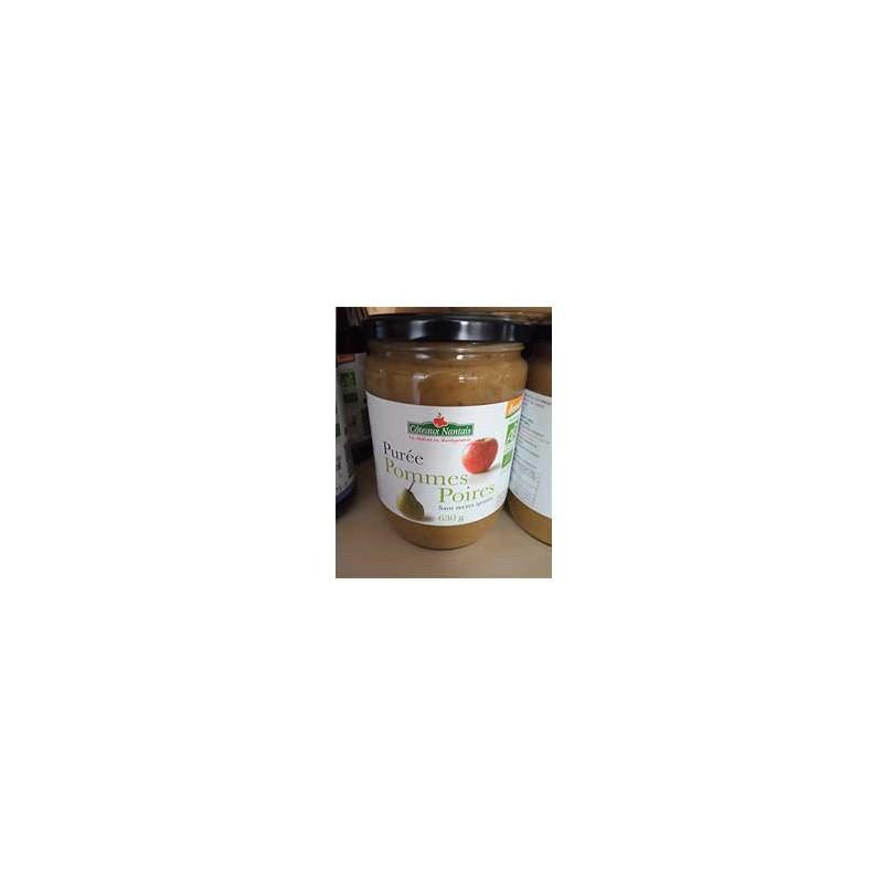 Confitures, crêpes et galettes bio-Purée pomme poire bio - 630 g-COTEAUX NANTAIS