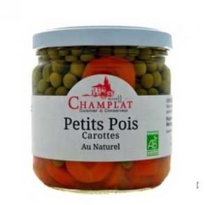 Produits Bio-Petits pois carottes (pot de verre)- 340 g-BIODIS