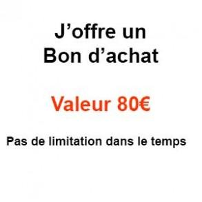 Bon à offrir-Un bon d'achat valeur 80€-PRODUITS SELECTIONNES
