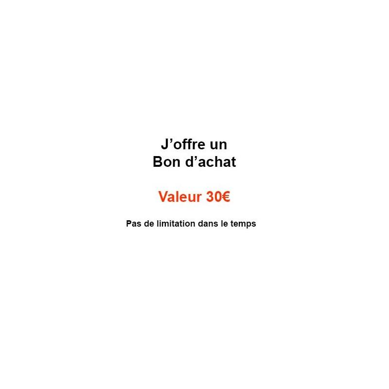 Rubrique Bon à offrir-Un bon d'achat valeur 30€-PRODUITS SELECTIONNES