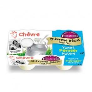 Les yaourts (chèvre)-yaourt fermier nature par 2-CHEVRERIE BECOT