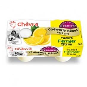 Les yaourts (chèvre)-yaourt fermier CITRON par 2-CHEVRERIE BECOT