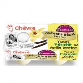Les yaourts (chèvre)-yaourt fermier vanille bourbon par 2-CHEVRERIE BECOT