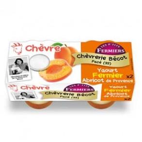 Les yaourts (chèvre)-yaourt fermier abricot par 2-CHEVRERIE BECOT
