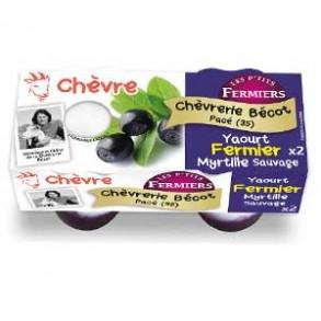 Les yaourts (chèvre)-yaourt fermier myrtille par 2-CHEVRERIE BECOT