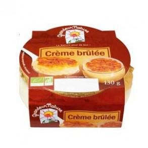 Crèmes dessert bio, riz au lait, mousse-Crème brulée bio - 130 g-BIODIS FRAIS