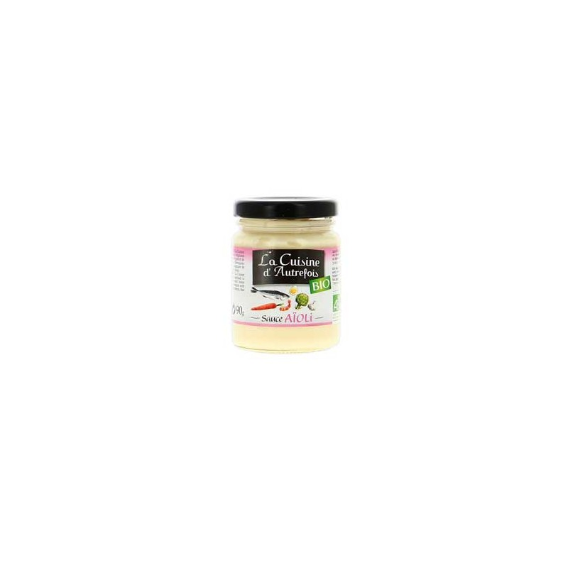 Produits Bio-Sauce aïoli bio- 90 grs-BIODIS