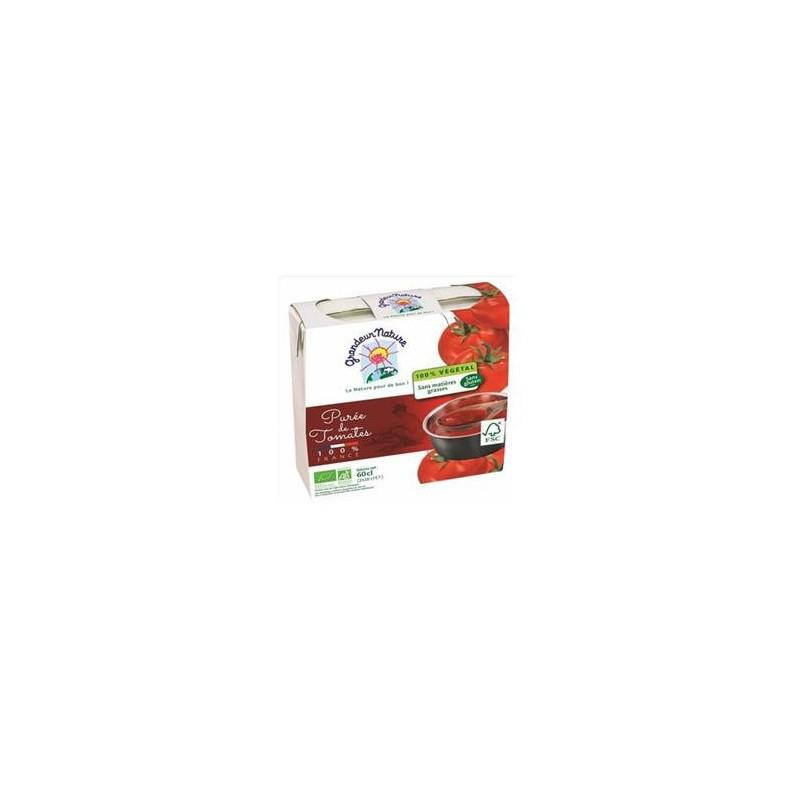 Légumes prêts à l'emploi-Purée tomates bio -2*30 cl-BIODIS